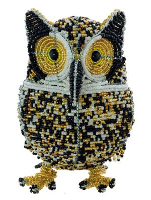 beaded owl figurine