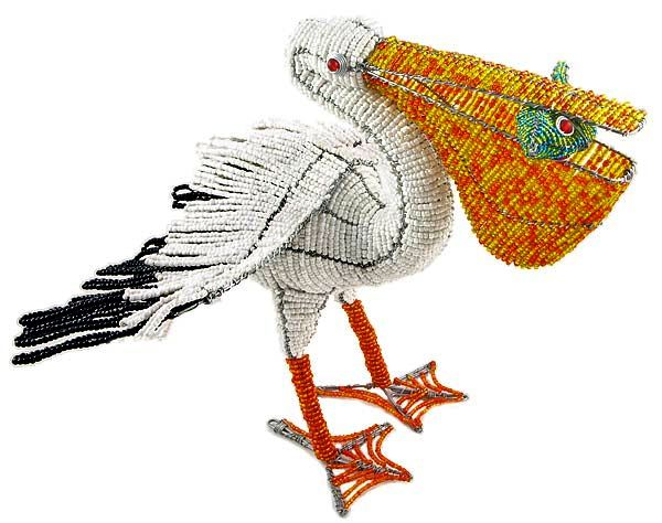 beaded bird figurines