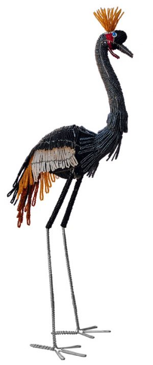 West African crane, beaded crane, crane figurine