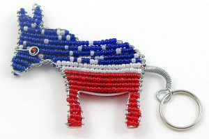 DNC key chain; DNC donkey key chain