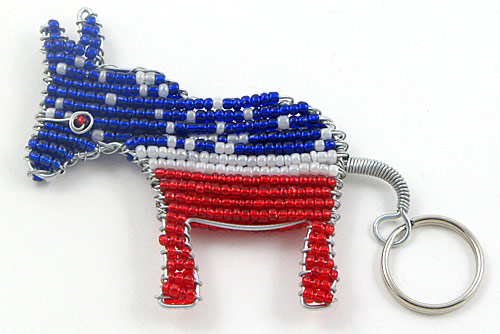 DNC key chain; DNC donkey key chain