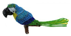 mini beaded macaw; mini beaded parrot