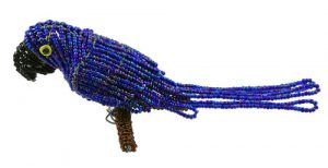 mini beaded macaw, mini beaded parrot