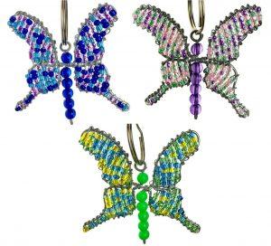 butterfly key chain, butterfly keychain, butterfly keyring
