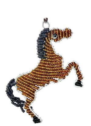 beaded horse keyring, beaded horse key chain, beaded horse keychain, horse keyring