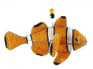 beaded clown fish; clown fish figurine