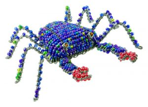 mini beaded crab figurine