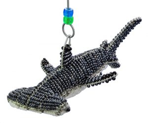 mini beaded hammerhead figurine