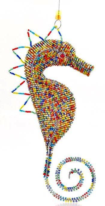 beaded seahorse figurine