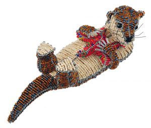 beaded otter figurine