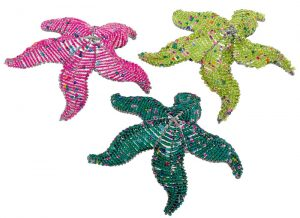 beaded starfish figurine
