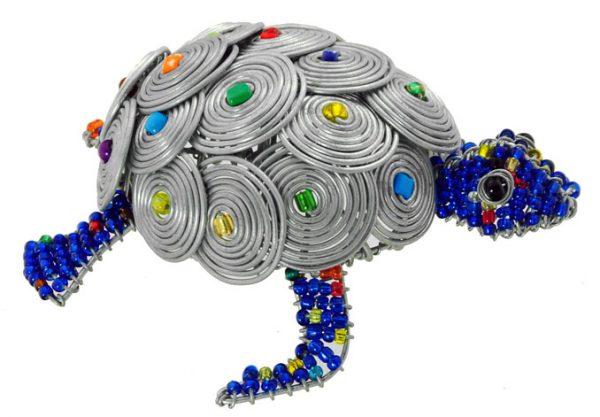 beaded turtle; turtle figurine