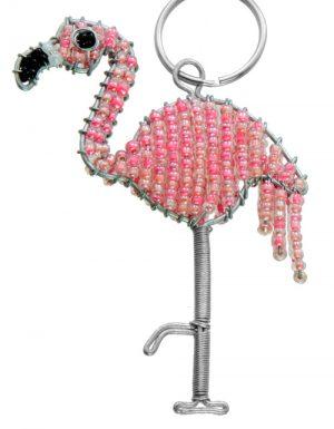 flamingo keychain, flamingo keyring