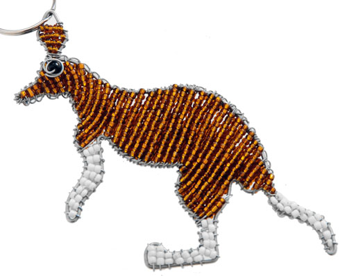beaded kangaroo key chain, kangaroo keyring