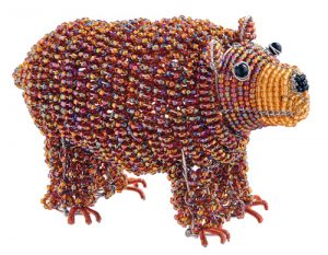 mini beaded bear figurine