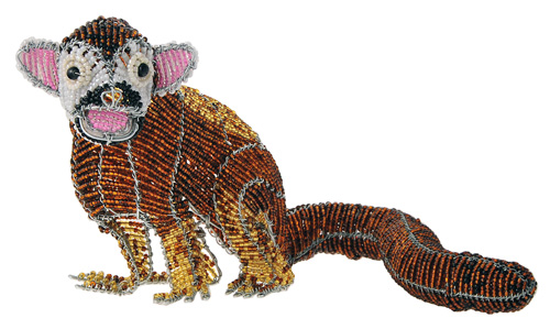 beaded monkey figurine