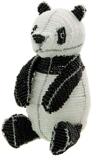 beaded panda figurine
