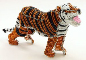 beaded tiger figurine
