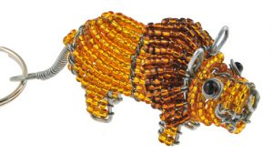 beaded lion key chain, lion keyring