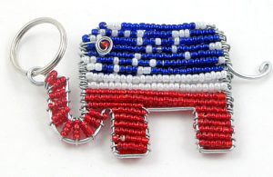 beaded RNC key chain