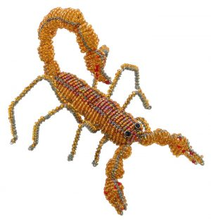 beaded scorpion, scorpion figurine