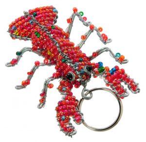 beaded lobster, beaded lobster key chain, lobster key chain, lobster keychain, lobster keyring