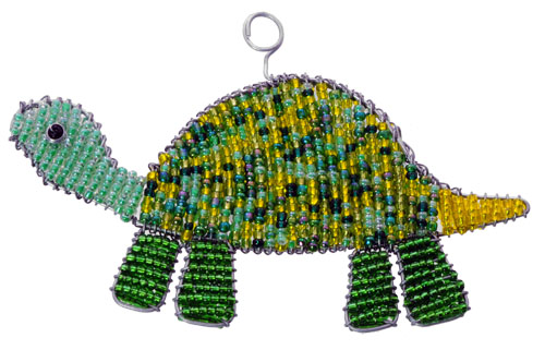 beaded turtle ornament, beaded turtle, turtle ornament