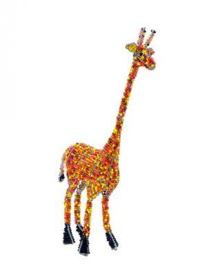 beaded giraffe, beaded giraffe figurine