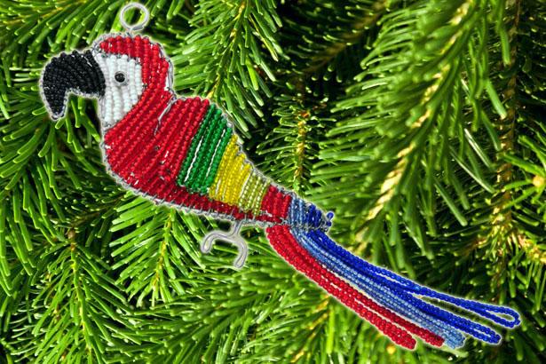beaded tree ornaments