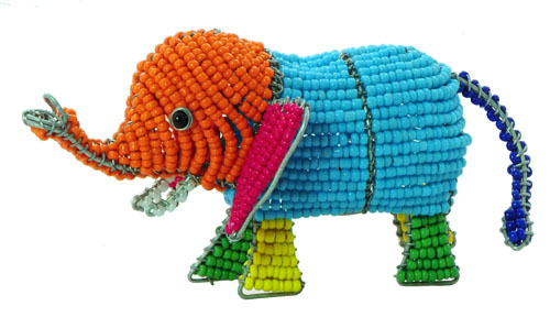 beaded elephant. beaded elephant figurine