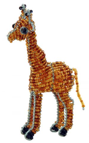 beaded giraffe, beaded giraffe figurine
