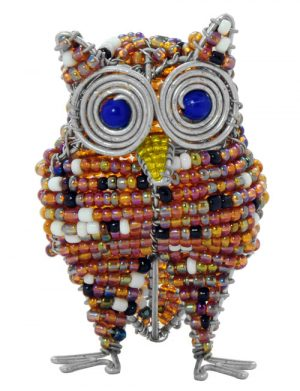 beaded owl, owl figurine