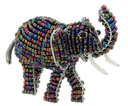 beaded elephant, beaded elephant figurine