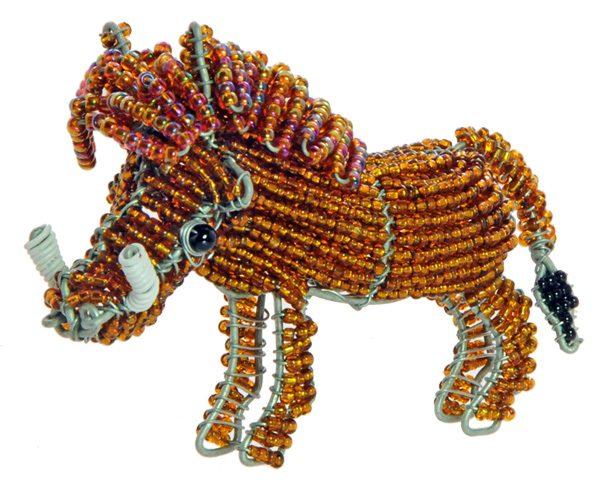 beaded warthog, warthog figurine