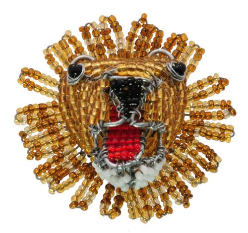 beaded lion magnet