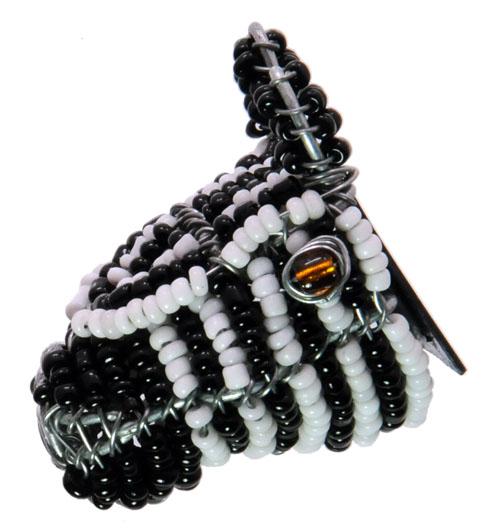 beaded zebra magnet