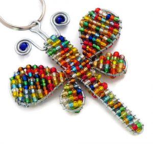 dragonfly keyring, dragonfly keychain, dragonfly key chain