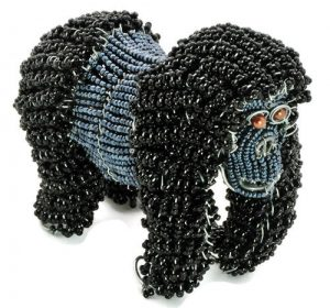 beaded wild animal figurines