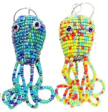 octopus key chain, octopus keychain, octopus keyring