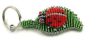 ladybug key chain, ladybird keyring, ladybug keychain, red ladybug key chain