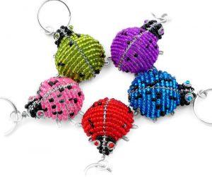 ladybug key chain, ladybird keyring, ladybug keychain