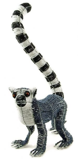 ring tail lemur key chain