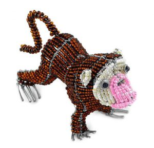 beaded monkey, beaded chimp, beaded chimpanzee