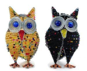 beaded owl