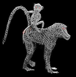 wire baboon, metal baboon
