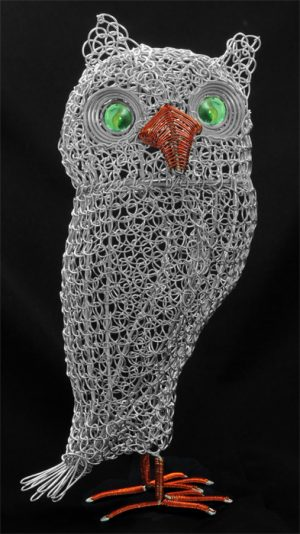 wire owl, metal owl