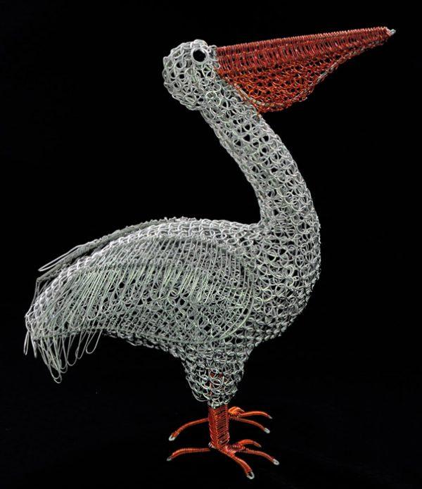 wire pelican, metal pelican