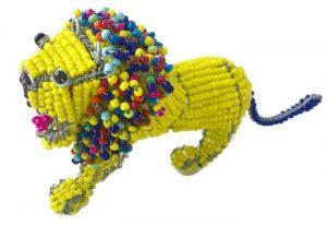beaded lion
