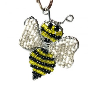 bee key chain, bumble bee key chain