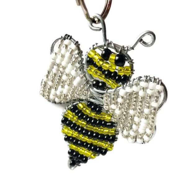 bee key chain, bumble bee key chain